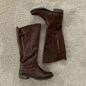 BareTraps Sabio Brown Tall Boots